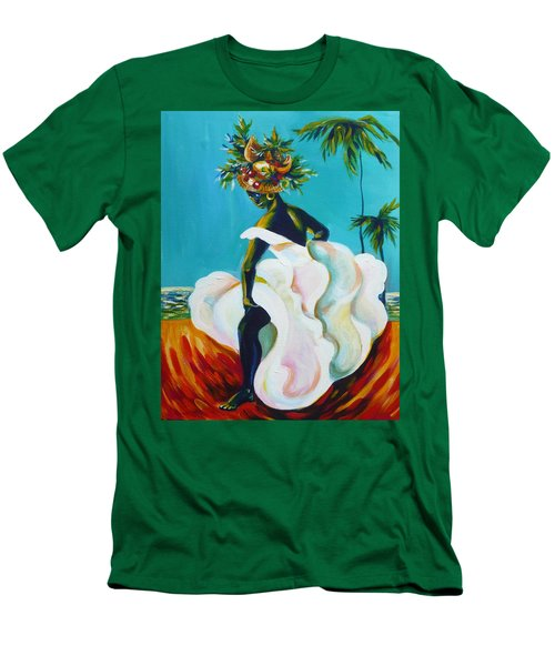 Men's T-Shirt (Slim Fit) featuring the painting Tropicana by Anna  Duyunova