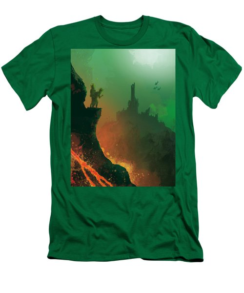 Undersea Volcano Men's T-Shirt (Athletic Fit)
