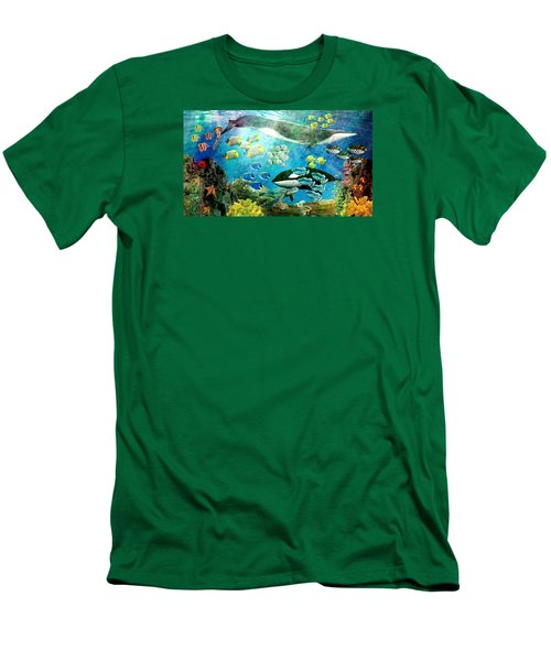 Underwater Magic Men's T-Shirt (Athletic Fit)