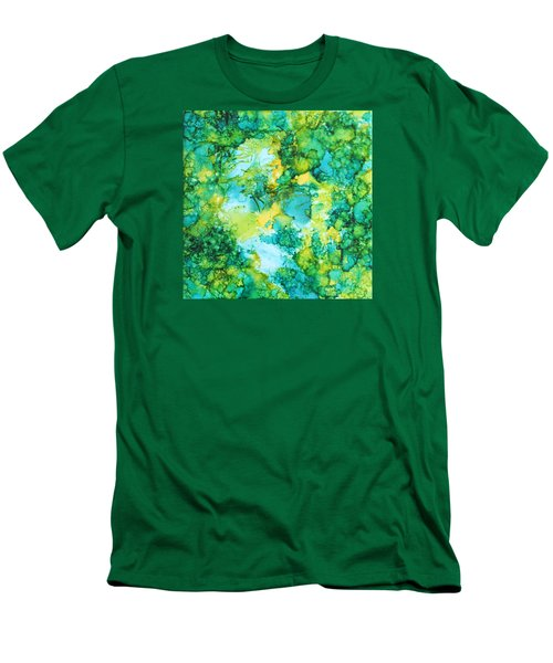 Underwater Map Men's T-Shirt (Athletic Fit)