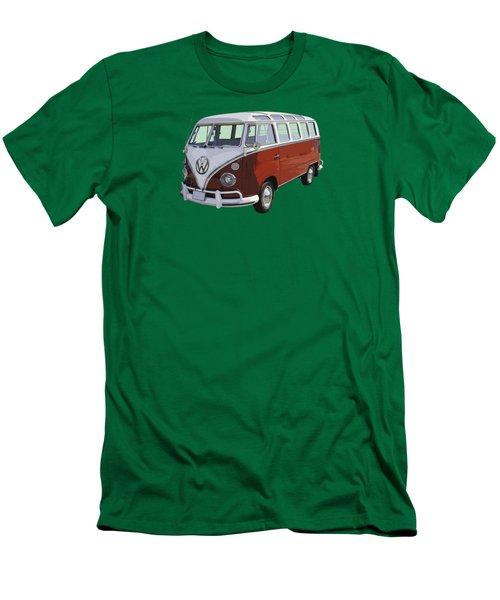 Volkswagen Bus 21 Window Bus  Men's T-Shirt (Slim Fit) by Keith Webber Jr