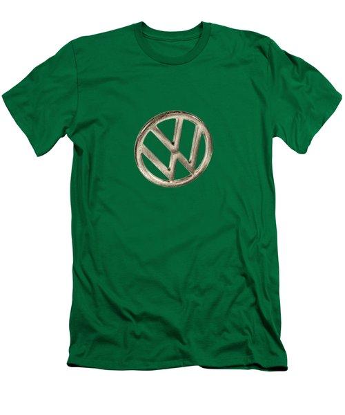 Vw Car Emblem Men's T-Shirt (Slim Fit) by YoPedro
