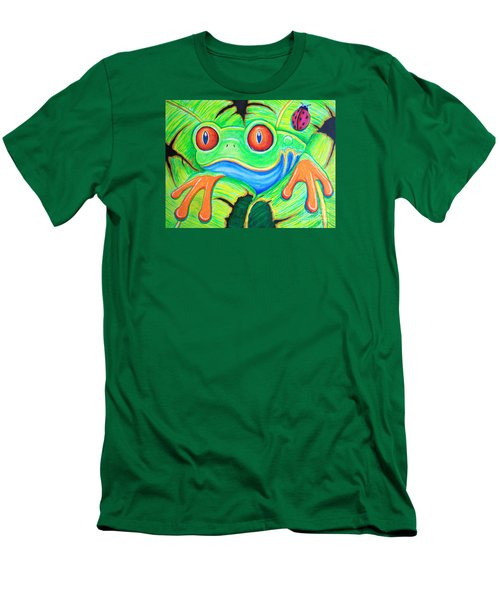 Watching You Red Eyed Tree Frog Men's T-Shirt (Athletic Fit)