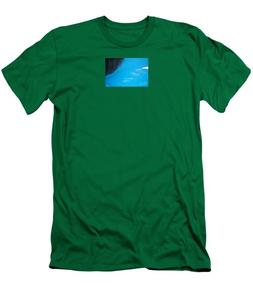 Men's T-Shirt (Slim Fit) featuring the photograph We Got The Blues - Winter In Switzerland by Susanne Van Hulst