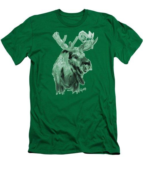 Xmas Moos Men's T-Shirt (Athletic Fit)