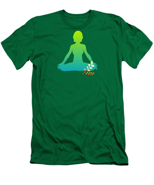 Yoga Meditation Pose Abstract Illustration Men's T-Shirt (Athletic Fit)