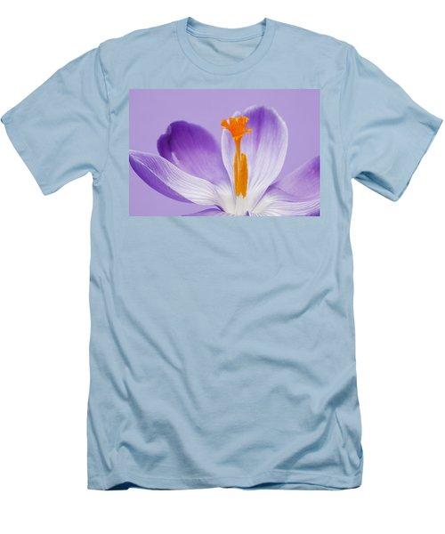 Abstract Purple Crocus Men's T-Shirt (Athletic Fit)