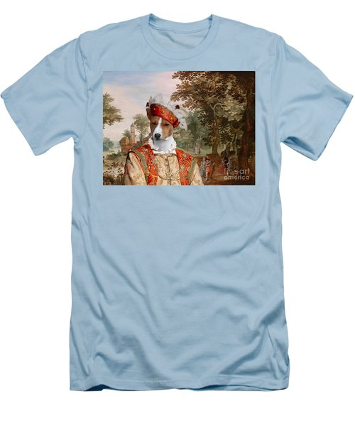 Basenji Art Canvas Print Men's T-Shirt (Athletic Fit)