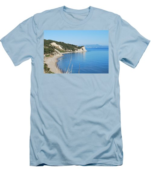 Men's T-Shirt (Slim Fit) featuring the photograph  Beach by George Katechis