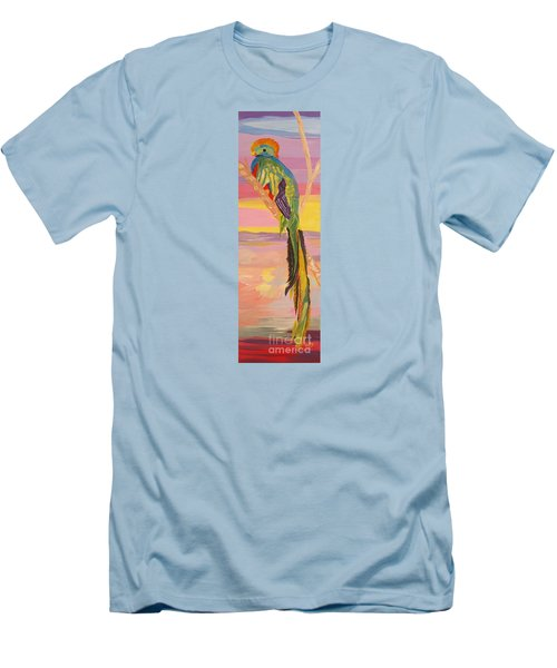 Beautiful Bird Quetzal Must Open  Men's T-Shirt (Athletic Fit)