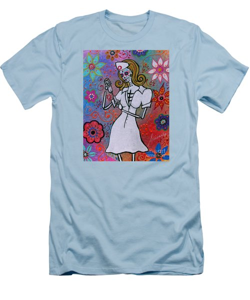 Dia De Los Muertos Nurse Men's T-Shirt (Athletic Fit)