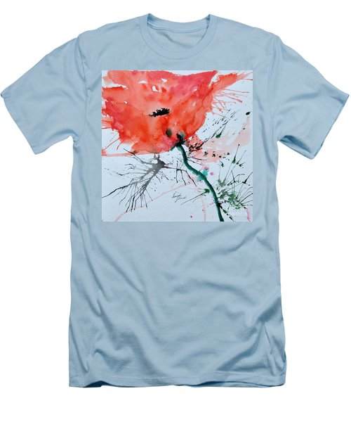 Lonely Poppy Men's T-Shirt (Athletic Fit)