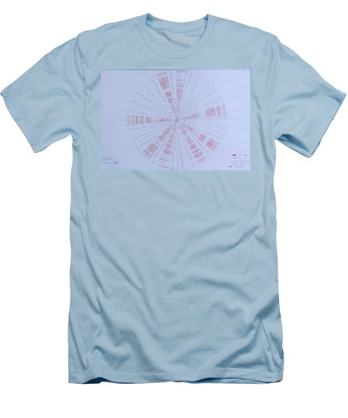 Prime Number Pattern P Mod 30 Men's T-Shirt (Slim Fit) by Jason Padgett