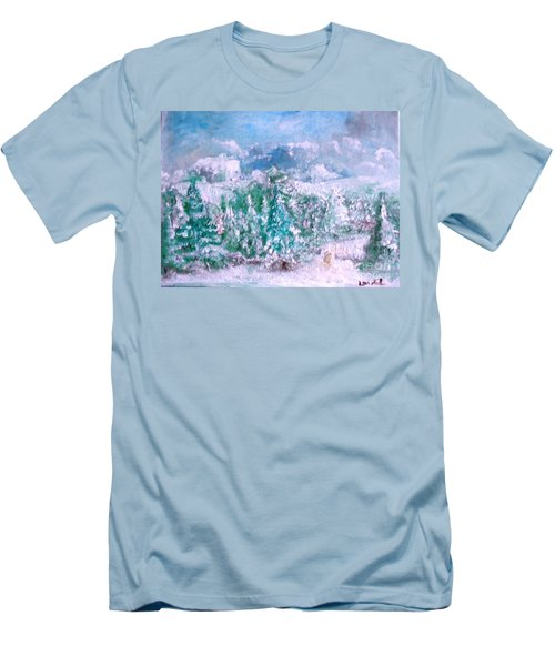 A Natural Christmas Men's T-Shirt (Slim Fit) by Laurie L