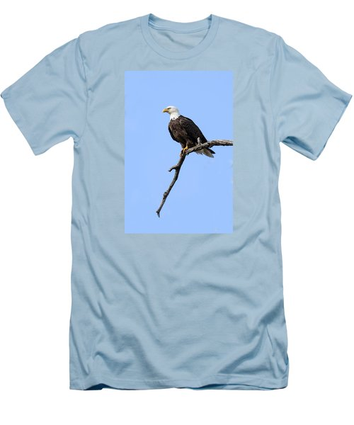 Men's T-Shirt (Slim Fit) featuring the photograph Bald Eagle 6 by David Lester