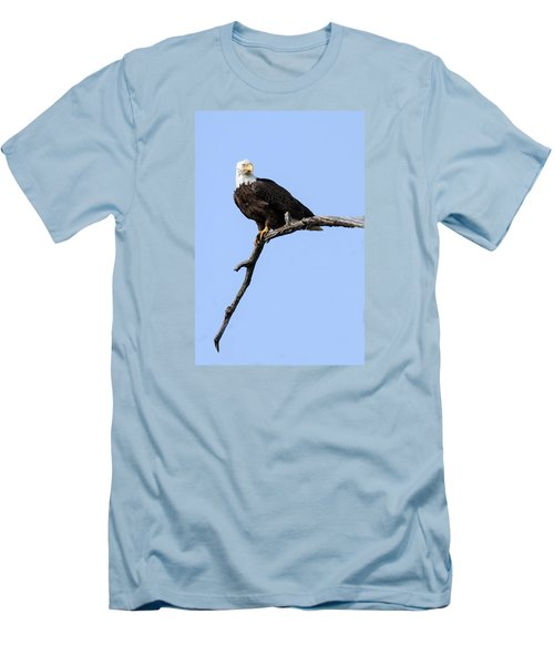 Men's T-Shirt (Slim Fit) featuring the photograph Bald Eagle 7 by David Lester