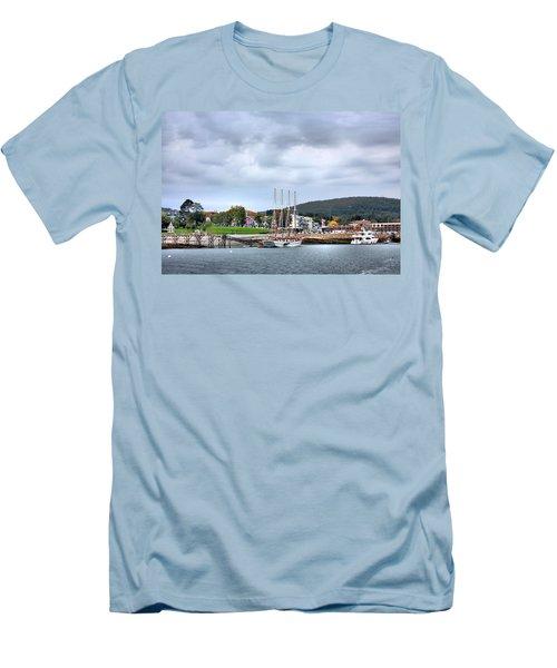 Bar Harbor Maine Men's T-Shirt (Slim Fit) by Kristin Elmquist