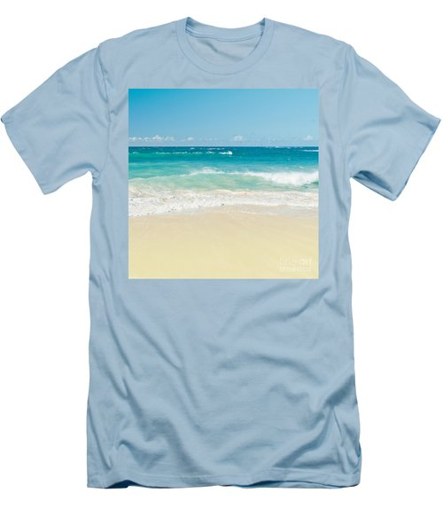 Men's T-Shirt (Athletic Fit) featuring the photograph Beach Love by Sharon Mau