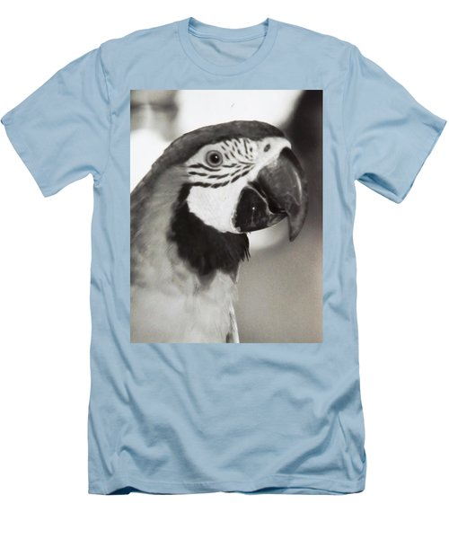 Black And White Parrot Beauty Men's T-Shirt (Slim Fit) by Belinda Lee