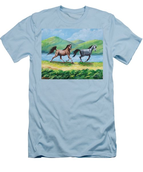 Colt And Mare Men's T-Shirt (Athletic Fit)