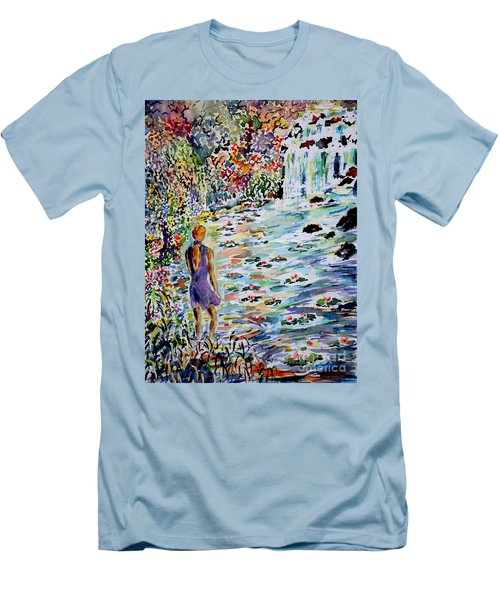 Men's T-Shirt (Slim Fit) featuring the painting Daughter Of The River by Alfred Motzer