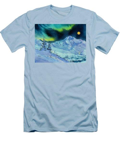 Denali Night Men's T-Shirt (Slim Fit) by Teresa Ascone