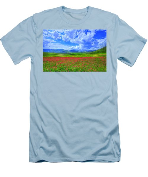 Fields Of Dreams Men's T-Shirt (Slim Fit) by Midori Chan