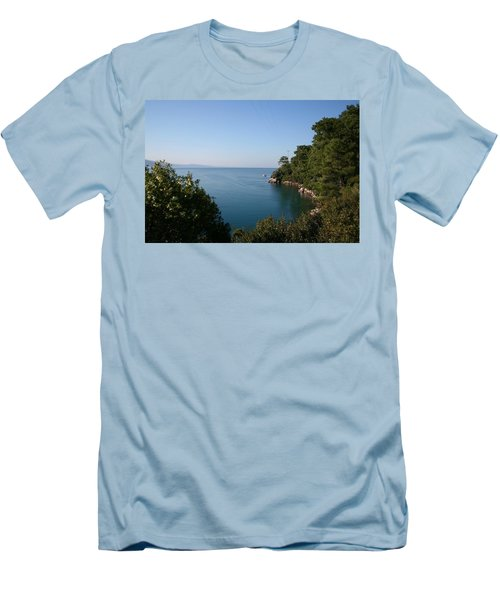Men's T-Shirt (Slim Fit) featuring the photograph Gokova Korfezi Akyaka by Tracey Harrington-Simpson