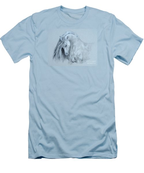 Men's T-Shirt (Slim Fit) featuring the painting Grey Horse by Laurianna Taylor