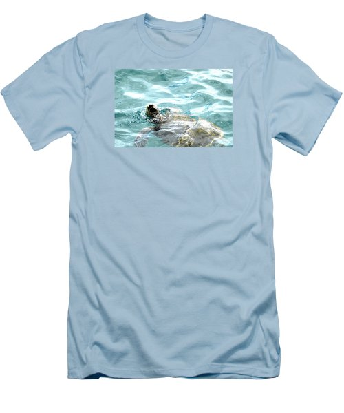 Men's T-Shirt (Slim Fit) featuring the photograph Kamakahonu, The Eye Of The Honu  by Lehua Pekelo-Stearns