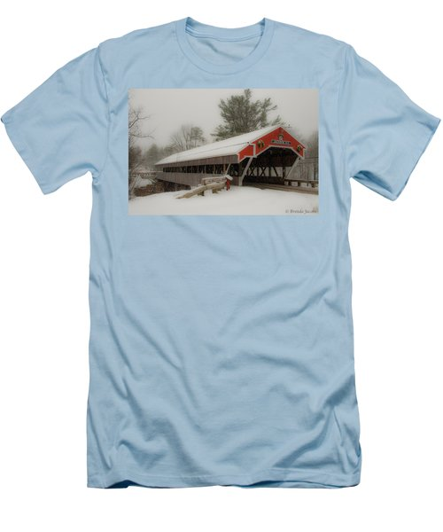 Jackson Nh Covered Bridge Men's T-Shirt (Athletic Fit)