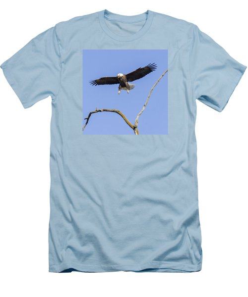 Men's T-Shirt (Slim Fit) featuring the photograph Landing Approach 1 by David Lester