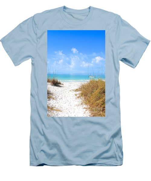 Men's T-Shirt (Slim Fit) featuring the photograph Anna Maria Island Escape by Margie Amberge
