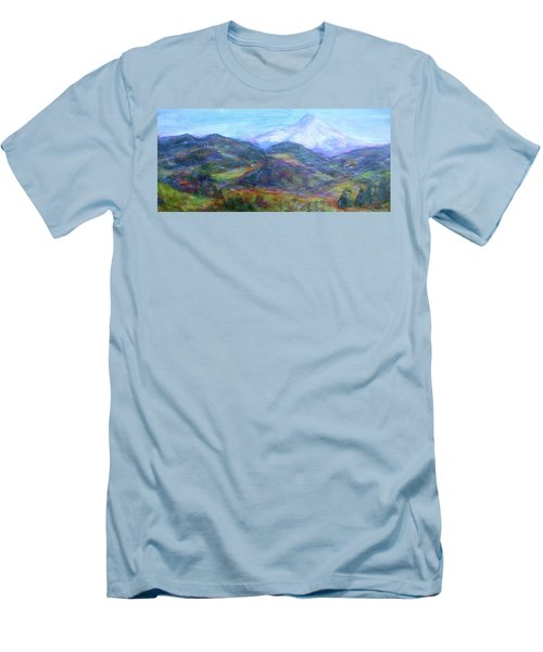 Mountain Patchwork Men's T-Shirt (Athletic Fit)