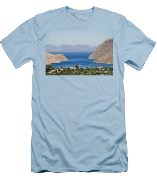 Pedi Bay Symi Men's T-Shirt (Athletic Fit)