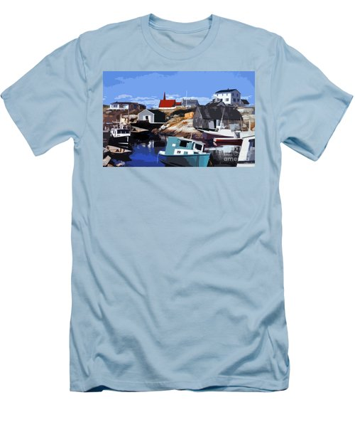 Peggy's Cove Men's T-Shirt (Slim Fit) by Lydia Holly