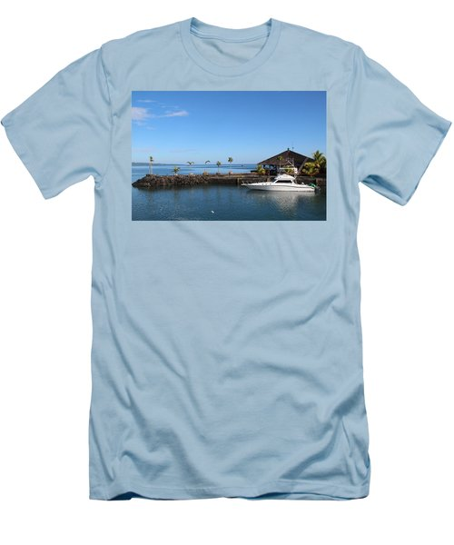 Men's T-Shirt (Slim Fit) featuring the photograph Quiet Bay by Sergey Lukashin