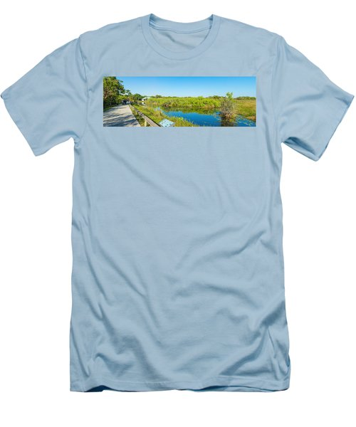 Reflection Of Trees In A Lake, Anhinga Men's T-Shirt (Athletic Fit)