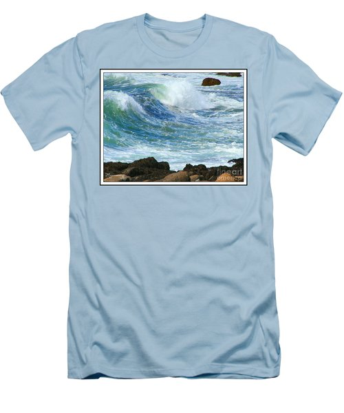Men's T-Shirt (Slim Fit) featuring the photograph Rough Seas by Mariarosa Rockefeller