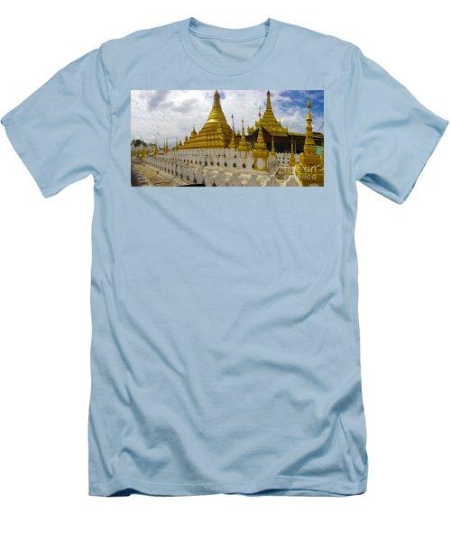 Men's T-Shirt (Slim Fit) featuring the photograph Sandamuni Pagoda Mandalay Burma by Ralph A  Ledergerber-Photography