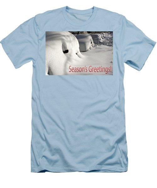 Season's Greetings Men's T-Shirt (Slim Fit) by Stuart Litoff