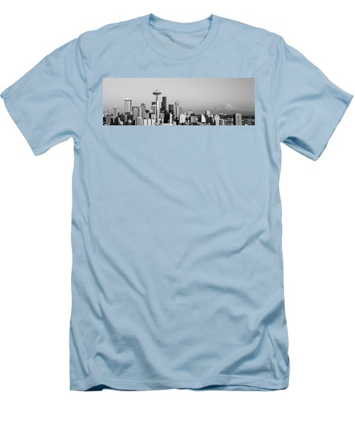 Skyline, Seattle, Washington State, Usa Men's T-Shirt (Slim Fit) by Panoramic Images