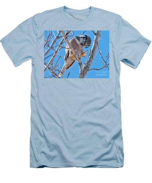 Smiling And Waving Men's T-Shirt (Slim Fit) by Cheryl Baxter