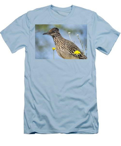 The Greater Roadrunner  Men's T-Shirt (Slim Fit) by Saija  Lehtonen