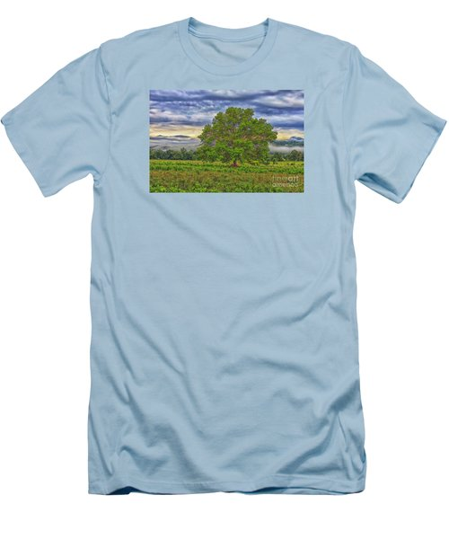 Men's T-Shirt (Slim Fit) featuring the photograph The Tree by Geraldine DeBoer