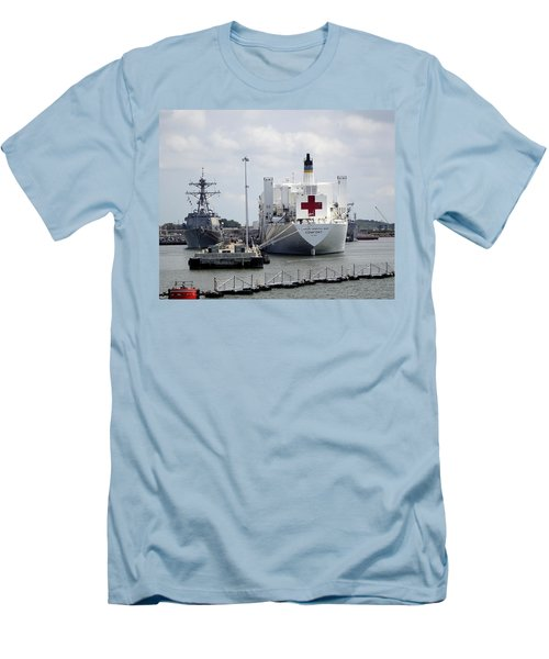 Us Naval Hospital Ship Comfort Men's T-Shirt (Athletic Fit)