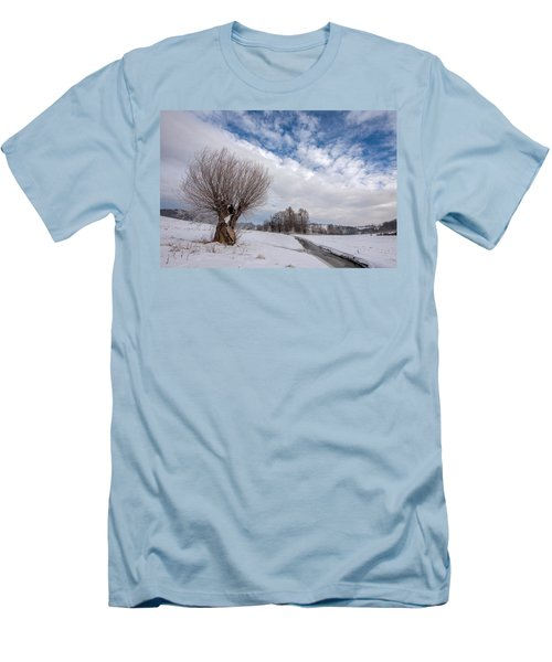 Men's T-Shirt (Slim Fit) featuring the photograph Willow by Davorin Mance