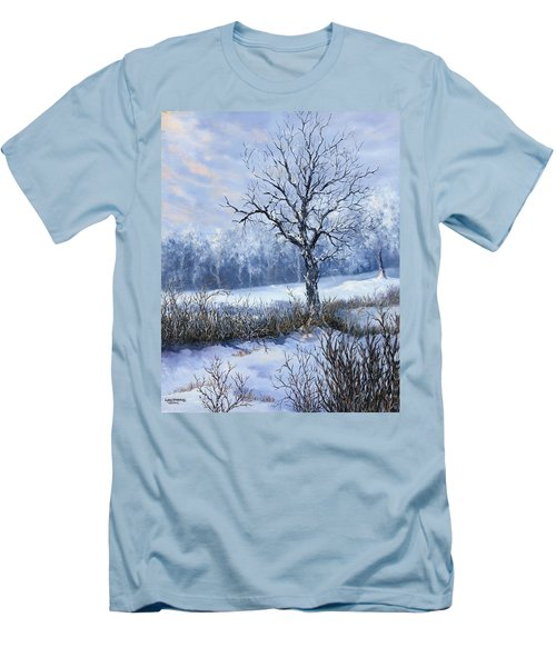 Winter Slumber Men's T-Shirt (Athletic Fit)
