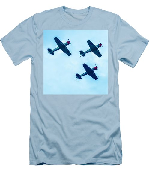 Action In The Sky During An Airshow Men's T-Shirt (Athletic Fit)