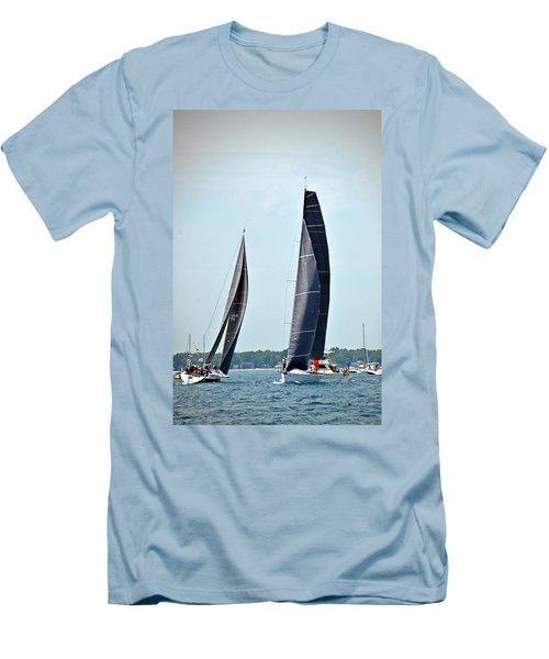 Evolution And Natalie J Men's T-Shirt (Slim Fit) by Randy J Heath